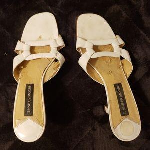 Jennifer Moore Leather White Open toe sandal